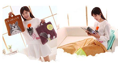 BSTcentelha 2 In 1 Cute Cartoon Plush Stuffed Animal Motifs Throw Pillow Blanket Set (Style E) by BSTcentelha (Image #6)