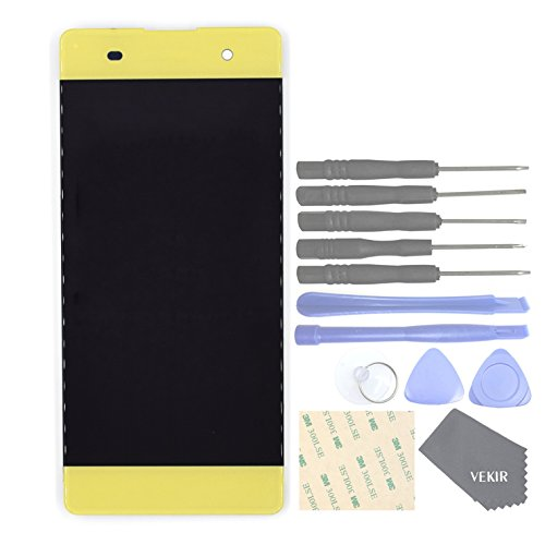 VEKIR Cell Phones Replacement Parts for Sony Xperia XA F3111 XA Dual F3112 Complete Display Touch Digitizer Screen [NO Screen Frame](Lime Gold)