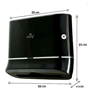 Dolphy Multifold Mini Hand Towel Paper Dispenser Black 7