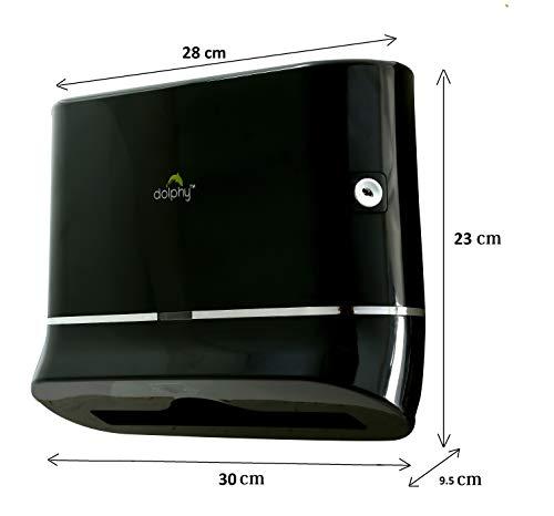 Dolphy Multifold Mini Hand Towel Paper Dispenser Black 2