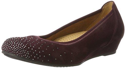 Gabor Women's Comfort Sport Closed Toe Ballet Flats, Blue Red (New Merlot 48)