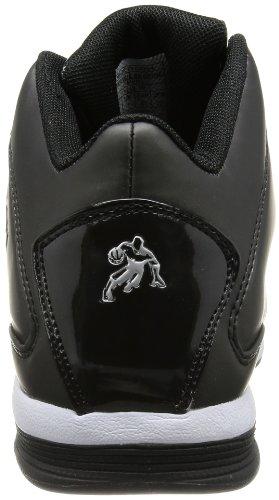 Y 1 Hombres Backlash Mid Basketball Shoe Negro / Negro / Blanco