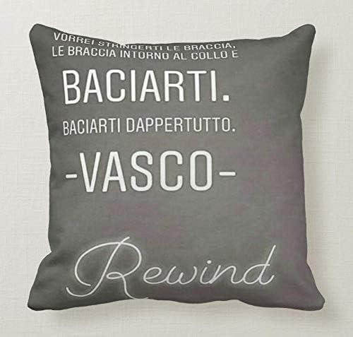 Vasco Rossi Frasi D Amore.Pillow Cuscino Personalizzato 40x40 Frase Vasco Rossi Canzone D Amore Rewind Vorrei Stringerti Le Braccia 1 Cuore Amore Idea Regalo Amazon It Casa E Cucina