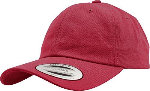 Flexfit Gorra de Béisbol Yupoong Algodón Unisex para Hombre y Mujer, no Rígida con Cierre de Latón cranberry