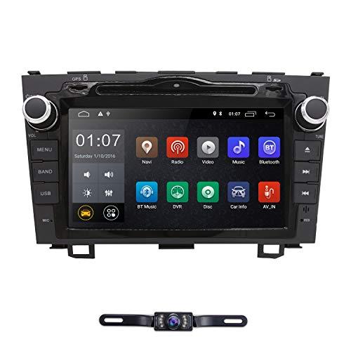 hizpo Android 9.0 Car Radio for Honda CRV CR-V 2007 2008 2009 2010 2011 8 inch DVD Player WiFi GPS Navigation Stereo Bluetooth + Camera 2 Gb Proprietary Memory