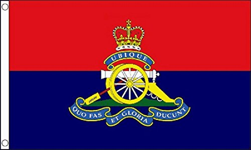 British Army Royal Artillery Regiment Flag 5'x3' (150cm x 90cm) - Woven Polyester