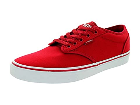 Vans Men's Atwood (Canvas) Red/White Skate Shoe 11.5 Men (Deluxe Imbottito Basso)