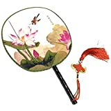 Attractive Chinese Round Fan Classical Dancing Dan With Beautiful Pattern, #22