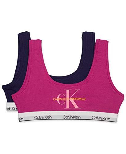 Calvin Klein Girls' Kids Modern Cotton Bralette, Multipack