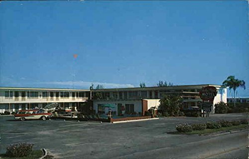 Shelby Plaza Motel, On the Water Clearwater, Florida Original Vintage Postcard ()