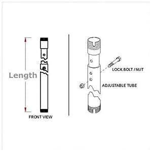 Adjustable Clng Extension 6-8FT Jumbo Mounts