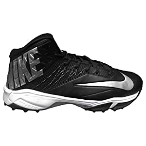 Nike Men's Zoom Code Elite Destroyer Turf Football Cleats (15, Black/Silver/White)