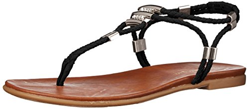 Madden Girl Women Flexii Gladiator Sandal Black Fabric