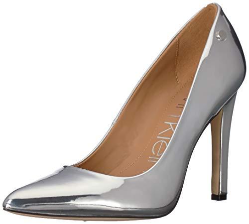Calvin Klein Women's Brady Pump, Silver/Metallic, 7.5 M US