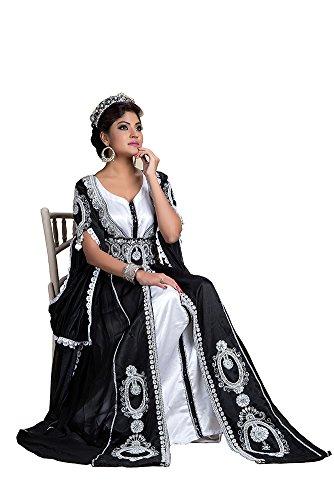 palasfashion Frauen Hochzeit Kaftan Kleid Schwarz 0h6eC3X
