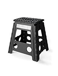 Acko 16 Inches Super Strong Folding Step Stool for Adults and Kids, Kitchen Stepping Stools, Garden Step Stool Black BOBEBE Online Baby Store From New York to Miami and Los Angeles