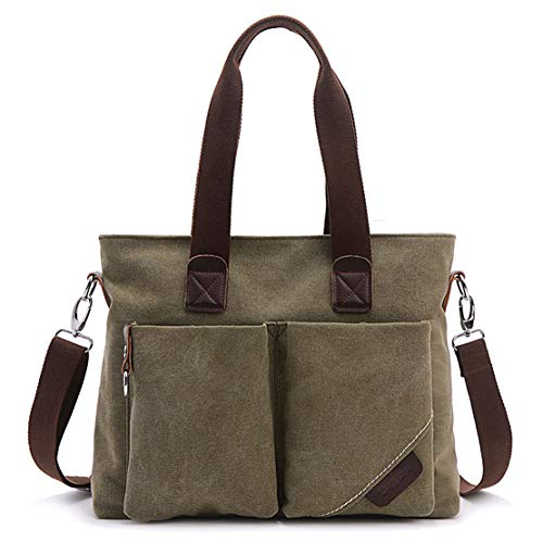 large Tote Shoulder Satchel Purse ToLFE Handle Top Bag Handbags Green Women Army qg6PS
