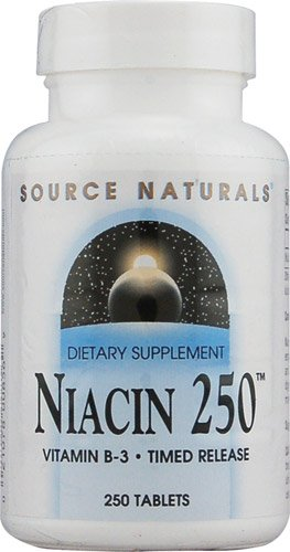 Source Naturals Niacin 250T Vitamin B-3 -- 250 mg - 250 Tablets - 3PC by Source Naturals
