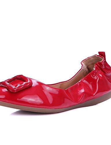 uk3 negro talón eu35 white plano rojo cn34 deber PDX y mujer trabajo de comodidad Athletic y blanco Casual oficina piel carrera zapatos us5 de Flats xTXxBg