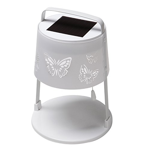 Grand patio Outdoor Weather-Resistant Table Lamps, Solar Powered Tabletop Lighting, Decorative Solar Table Lights, White