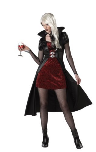 [California Costumes Women's Blood Thirsty Beauty Costume, Black/Burgundy, Small] (Adult Vampire Halloween Costumes)