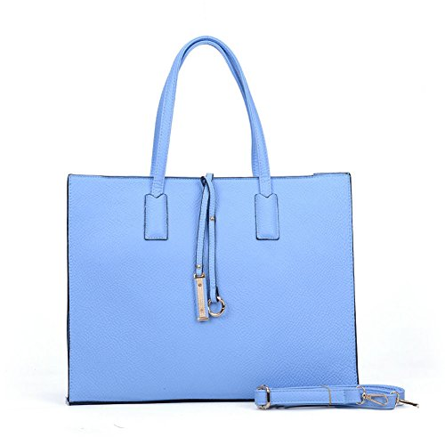 Bag With Light Boxy Blue Tote Ring Boxy Tote Decoration q7azv