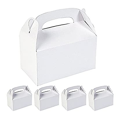 Adorox 12 Pack White Color Decorate Paint Cardboard Favor Boxes Treat Goody Bags Children Birthday Party Event Gift: Kitchen & Dining