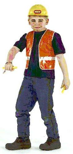 Bauarbeiter Weste Sicherheitsweste Gr 152 Kostum Karneval Kinder