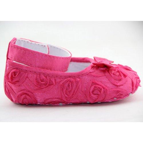 DDU Baby Mädchen Rose Stil Weich Prinzessin Schuhe Pfirsich 13cm
