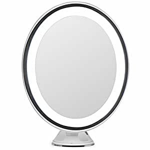 Amazon Com Lightluxe 5x Lighted Magnifying Makeup Mirror