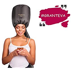 Bonnet Hood Hair Dryer Attachment by Granteva – Relax, Speeds Up Drying Time at Home, Easy to Use for Styling, Curling and Deep Conditioning – Soft, Adjustable, Fits to All Small or Big Heads, Rollers