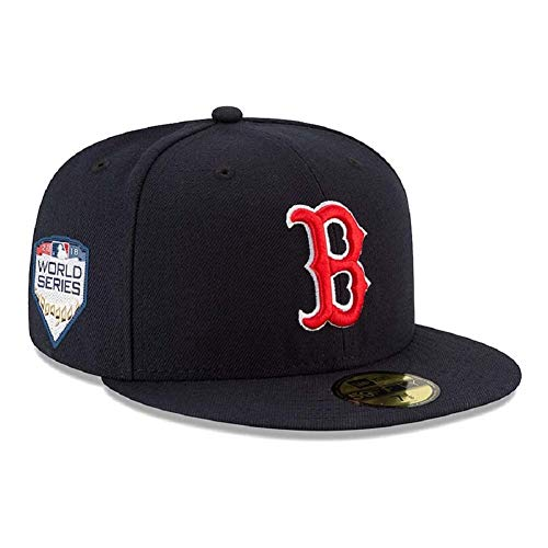 New Era Boston Red Sox 2018 World Series Bound Side Patch 59FIFTY Fitted Hat - Navy (7 1/2)