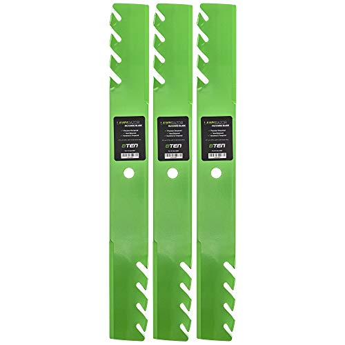 8TEN LawnRAZOR Mulching Blade Set for Scag Ferris 61 Inch Deck 48111 482879 1520842 Husqvarna 539101733 3 Pack from 8TEN