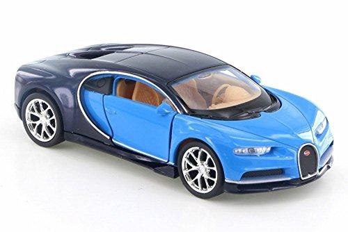 [해외]Welly Bugatti Chiron 블루다크 블루 43738D - 4.5 다이캐스트 모델 장난감 자동차 (신제품이지만 BOX가 아닙니다) / Welly Bugatti Chiron, BlueDark Blue 43738D - 4.5 Diecast Model Toy Car (Brand New but NO BOX)