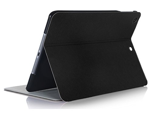 FYY Samsung Galaxy Tab4 8.0 inch Case - Ultra Slim Magnetic Smart Cover Multi-Angle Stand Case for Samsung Galaxy Tab 4 8.0 inch Black (With Auto Wake/Sleep Feature) - Samsung Tab 4 Case Stand