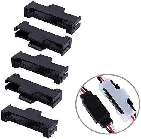 ikarex-shop 5 St/ück Sicherung Clip Schwarz f/ür Servo Stecker Sicherungsclip f/ür Servokabel Kabel Stecksystem Clips Servo