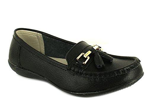 Foster Footwear - Mocasines de Piel para hombre Negro - negro