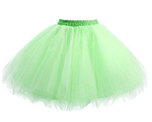 Il Sottogonna Verde Tutu Partito Annata Retro Prom Di Anno Donna 50 Danza Balletto Tulle Per Principessa Gonna Facent Menta OqUwPxg