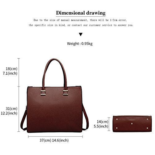 Brown Ladies Lulu Handbags Tote Bags Faux Shoulder Women 1509 Leather Designer Miss PnOXqX