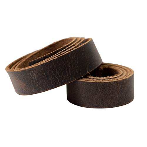 Hide & Drink, Leather Strong Strap (0.75 in.) Wide, Cord Braiding String, Medium Weight (1.8mm Thick) (48 in.) Long for Crafts/Tooling/Workshop :: Bourbon - Inch 48 Rawhide