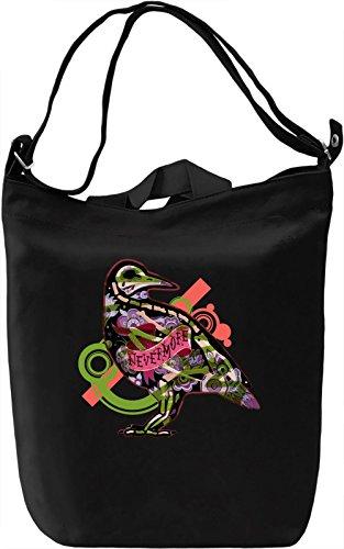 Never More Borsa Giornaliera Canvas Canvas Day Bag| 100% Premium Cotton Canvas| DTG Printing|