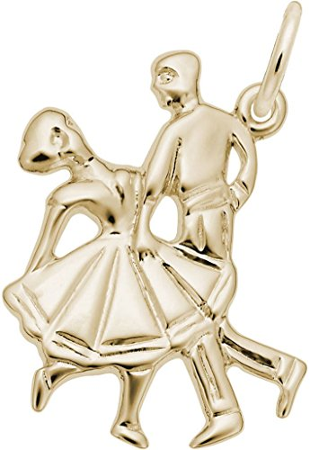 Rembrandt Dancing Couple Charm - Metal - 14K Yellow Gold by Rembrandt Charms