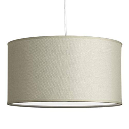 Messina Drum Pendant Ceiling Light - Cream Woven Shade - Linea di Liara LL-P719