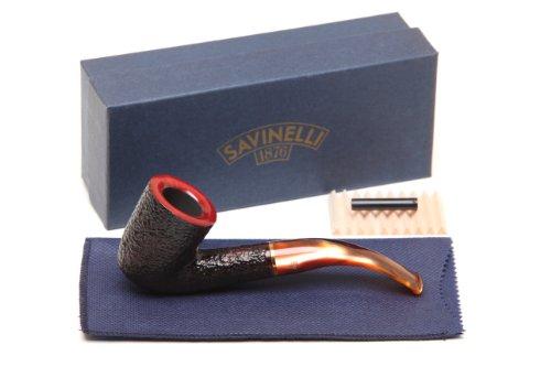 (Savinelli Roma Rustic 611 KS Lucite Stem Tobacco Pipe)