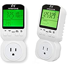 Nashone Multifunction thermostat timer switch socket with big LCD display ideal for energy saving