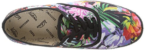 Flores Multicolore Mode Victoria negro Baskets Ingles Estamp Femme wxIUESY