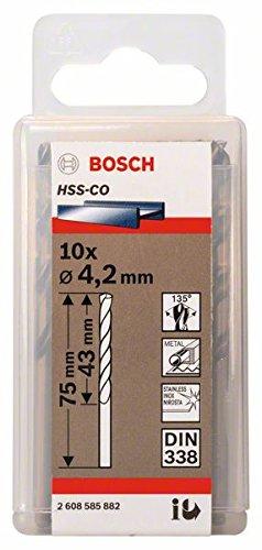 Bosch Professional Metallbohrer HSS-Cobalt (10 Stück, Ø 4,2 mm) 2608585882