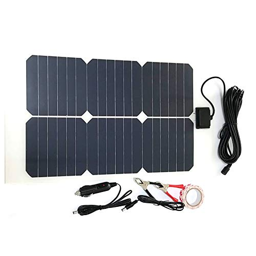NW 1776 Flexible Solar Battery Maintainer 18V 12V 20W Solar Car Boat Power Panel Battery Charger Maintainer for Automobile Motorcycle Tractor Boat Batteries
