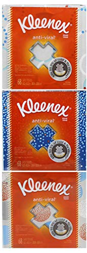 Facial Block - Kleenex Professional Anti-Viral Facial Tissue Cube for Business (21286), White, 3 Boxes / Bundle