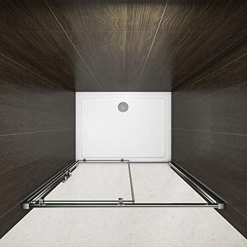 Mamparas de Ducha Corrediza cristal templado 6mm 100x185cm: Amazon.es: Bricolaje y herramientas